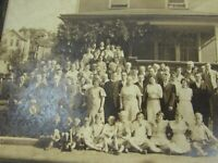 Vintage Cabinet Photo Family in Front of House 1930s 30577 Photograph
