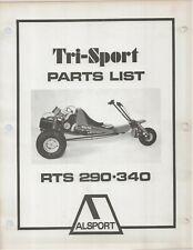 Reproduction Alsport Tri-Sport Parts List Manual RTS290 RTS340 #1