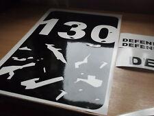 LAND ROVER Defender 130 Wing Panneau Capot Autocollant Set