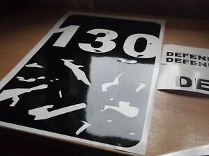 LAND ROVER DEFENDER 130  Wing panel bonnet Sticker SET