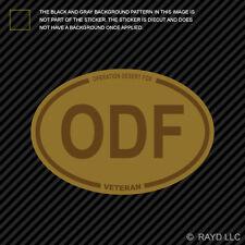 Desert Camo Operation Desert Fox Veteran ODF Oval Sticker army usmc navy usaf