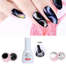 3Pcs/Lot Nail Art Blooming Gel Polish Soak Off UV Gel Black White Color Coat DIY