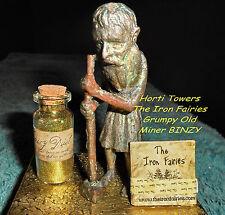 BINZY The Iron Fairies (New Bag Pkg) - Grumpy Old Man +2x FREE Finger Puppets