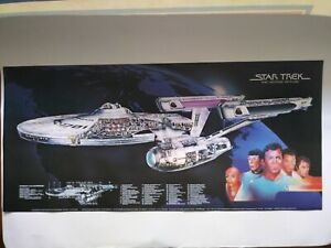 Vintage Star Trek TMP ENTERPRISE schematic Poster 1979 CocaCola promo