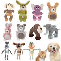 Dog Puppy Squeaker Animal Shape Toy Plush Squeaky Sound Chew Training Bite Play