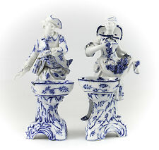 Pair Royal Berlin Porcelain Grape Gatherers Figurines 19th century; Hand Painted