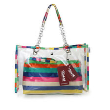 Women's Semi-clear Beach Wallet Tote Shoulder Bag Handbag Mini Cosmetic Bag Gift