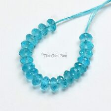 5mm Neon Blue Apatite Faceted Rondelle Beads (20)