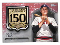 2019 Topps Update Carlton Fisk 150 Years 22/25 RED PARALLEL medallion patch card