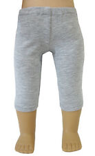 """Made in USA Heather Gray Knit Capri Leggings for 18"""" American Girl Doll Clothes"""