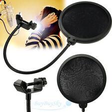 Double Layer Studio Microphone Mic Wind Screen Mask Gooseneck Shied Pop Filter