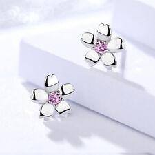Ohrstecker Kirschblüte echt SterlingSilber 925 Zirkonia rosa Ohrringe Blume