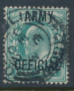 1902-1904 GB ½d BLUE GREEN ARMY OFFICIAL USED SGO48 KEVII