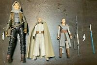 Star Wars Figures Lot Jyn Erso, Luke Skywalker, Rey (Skywalker)