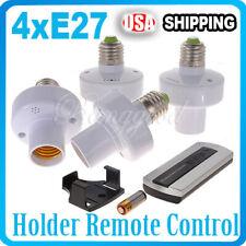 4PCS E27 Screw Wireless Remote Control Switch Light Holder Cap Socket Switch