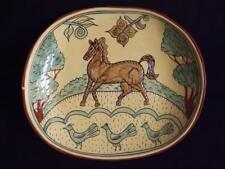 "Jeff White Redware Horse Platter 15x12"" EXC Signed 1991 Lebanon PA."