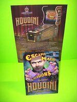 American Pinball HOUDINI Original Flipper Game Pinball Machine Flyer + Post Card