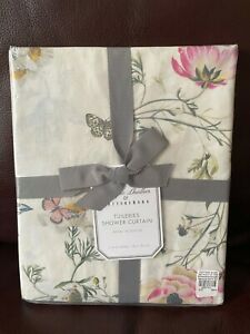 Pottery Barn Monique Lhuillier Tuileries Organic Shower Curtain 72x72 Butterfly