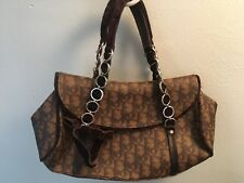 MINT! AUTHENTIC CHRISTIAN DIOR MONOGRAM LOGO TROTTER ROMANTIQUE BROWN BAG $2490
