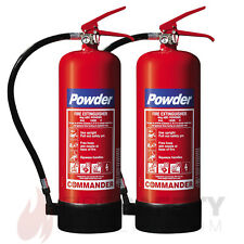 NEW x2 - 6 KG DRY POWDER FIRE EXTINGUISHER - HOME/OFFICE/BOAT
