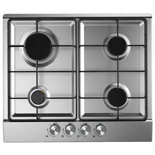 Cookology GH600SS 60cm Piano Cottura a Gas | Incorporati, Acciaio Inox, FFD & autoaccensione