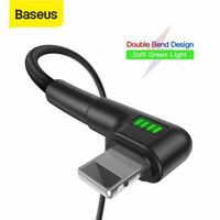 Baseus USB Charger Cable 2.4A Lightning Charging Lead for iPhone XS Max 8 7 iPad