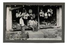 PHOTO CARTE ANCIENNE Ceylan Inde Marché Banane Fruit Vers 1930 Native boutique