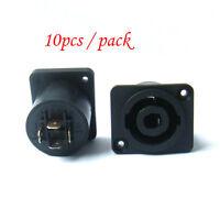 10pcs 4 Pin Speakon Female Jack Socket Connector Audio Loudspeaker Amplifier FG