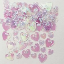 Embossed Iridescent Love Heart Confetti Valentines Party Table Decoration