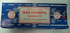 Genuine Satya Sai Baba Nag Champa Agarbatti 250 GM box Incense Sticks