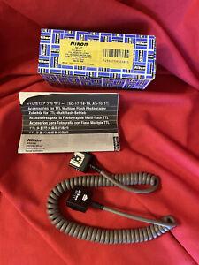 NEW Genuine Nikon SC-17 TTL NEW Remote Flash Adapter Sync Cord for SB-15 & 16B