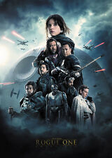 Movie POSTER Star Wars Anthology Rogue One all major characters collage 20x28 01