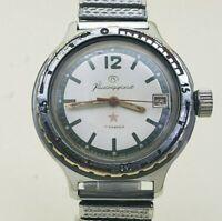 VOSTOK Amphibian Soviet mechanical watch Komandirskie Zakaz MO Military USSR