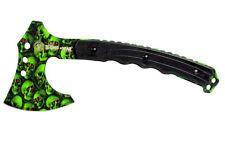 "9.75"" Zomb-War Tactical Full Tang Axe Skull Zombie Green Ax -"
