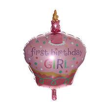 "32"" 1st BIRTHDAY CAKE GIANT FOIL BALLOON DECORATION FIRST BIRTHDAY GIRL"