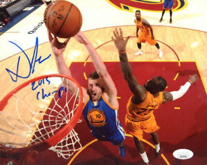David Lee Signed Golden State Warriors 8x10 Photo JSA
