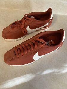 Nike Classic Cortez Nylon 749864-805 Firewood Orange/Sail Women's Size 10 New