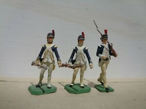 Rose & Imrie Risley American Light Infantry, lot of 3 lead 54mm AWI 1777, JJ