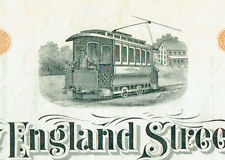 NEW ENGLAND STREET RAILWAY, BOSTON MA. 1900 STOCK CERTIFICATE