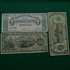 3 Mexico Revolution Notes 5 Pesos Diferent Types F-Vf