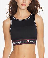 Champion Women's Banded Mesh Medium-Support Sports Bra Black