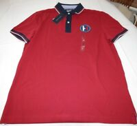 Men's Tommy Hilfiger Short Sleeve Polo shirt XL Custom Fit 78B6566 622 red navy