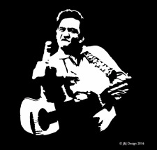 JOHNNY CASH FLIPPING THE BIRD Country Singer Oracal Vinyl Sticker Decal