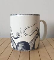 "222 Fifth ""Deep Sea"" JUMBO XL Porcelain Soup Coffee Mug OCTOPUS Creature Tail"
