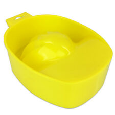 Acetone Resistant Manicure Nail Treatment Remover and Soaker Bowl - Yellow