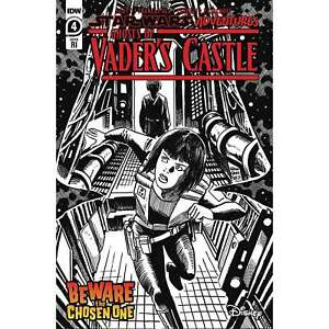 Star Wars Adventures Ghost Vaders Castle #4 IDW Marvel Cover C b&w 1:10 Variant