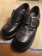 Vintage Bed Stu Mens Leather Black Monk Strap Platforms, Killer Buckle,  US 8