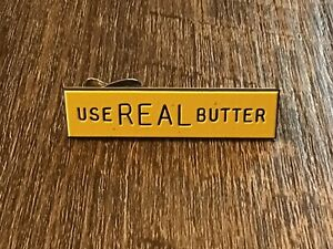 Vintage Use Real Butter Advertising Tie Clasp Clip