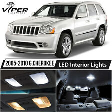 2005 2010 Jeep Grand Cherokee White LED Lights Interior Package Kit