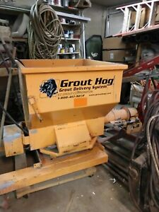 Grout Hog grout / hydraulic concrete delivery / pump system